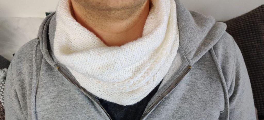 Pletená šála pro muže