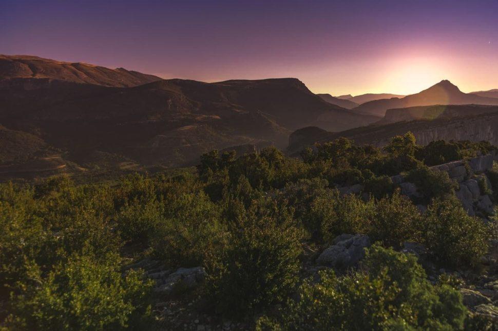 Západ slunce - Provence